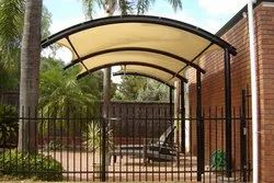 White Mild Steel,PVC Coated Fabric Residential Shade Structure