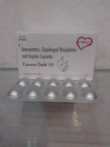 Atorvastatin 10 Mg , Clopidogrel  75 Mg ,Aspirin-75 Mg