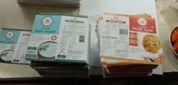 White Rectangular Printed Stickers, Packaging Type: Packet, Size: Custom