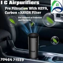 Carbon Filter Gray Car Air Purifier, Model Name/Number: IC-10