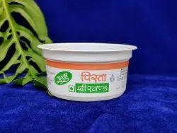 White Printed 100ml Plastic Dahi Cup