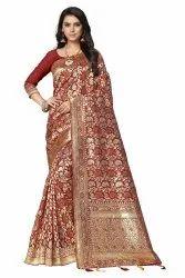 Charmer Festive Wear Banarasi Silk Saree With Blouse - Fs022
