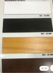 wooden blind  50 mm