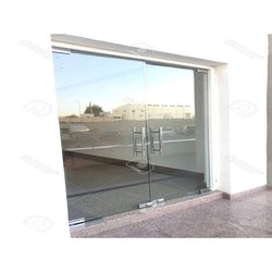 Hinged Frameless Toughened Glass Door, Thickness: 8 Mm