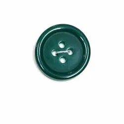 Green Polyester Coat Button, Size/Dimension: 18 Mm