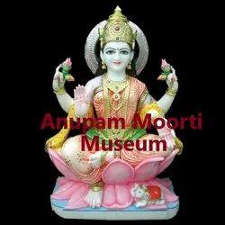 Ma Lakshmi Marble Statue