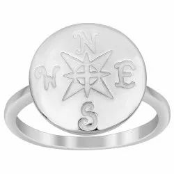 Engraved N-W-E-S Solid 925 Sterling Silver Filigree Statement Women Ring