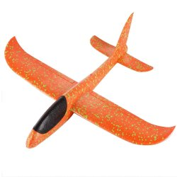 Sanchi Creation Elite Large Size 19 inch Foam Glider Airplane Outdoor Paper Plane (Multicolor)
