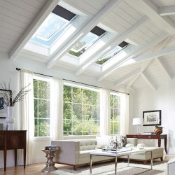 Glass Skylight Operated By Remote. Sky Light Is Provided On Existing Glass.