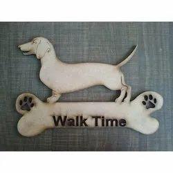 Decorative Wooden Dog Laser Cutting Craft