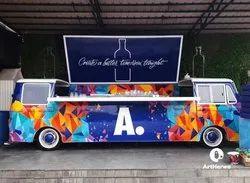 Acrylic Truck Bar Graffiti Art Services