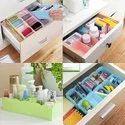 5-Grid Plastic Storage Box Drawer Organizer (Pack Of 4)