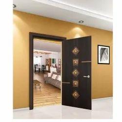Brown Designer Rectangular Living Room Laminate Door Skin,Finish Type: Satin Matte