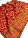 Pure  Jacquard Saree  With Resham Zari Work