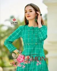 Lymi Originals Lemon Cotton Weaving With Value Addition Short Tops Catalog