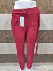 Lining Red Women Bottom Wear Maroon Trouser
