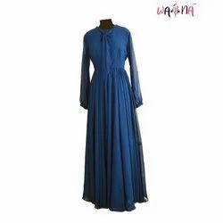 Waina Ladies Blue Net Long Kurti