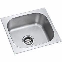 Single Stainless Steel Kitchen Sink, 18*16 Inch