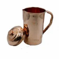 Plain Mr.COPPER Copper Jug Premium Embossed, Capacity: 1600ML