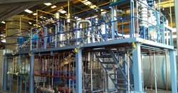 250 Kw Vegetable Oil Refining Plant, Capacity: 100-200 ton/day