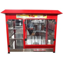 Ss Popcorn Machine With Flavour Storage and Warmer, 500.0 grams per batch