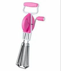 2 In 1 Stainless Steel Hand Blender Useful For Egg & Cake Beater, Multi-Color)