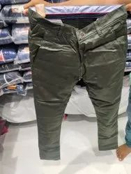 Olive Green Men Trousers