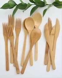 Bamboo Cutlery Fork,Spoon,Knife For Diwali Gifting