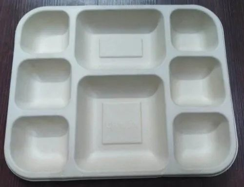 8 Compartment Bagasse Tray