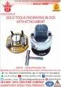 Mild Steel Gold Tool Engraving Block With Attachment, High, Model Name/number: 457896545