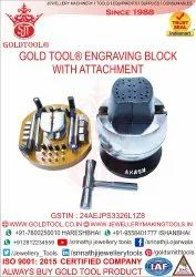 Gold Tool Engraving Block With Attachment