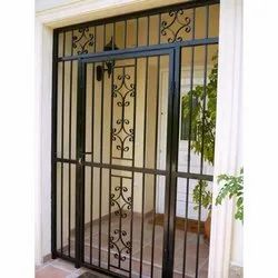 Black Iron Screen Door, For Home, Size/Dimension: 7.5 Feet