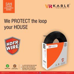 VR Kable 4.00 Sq Mm HDFR Unilayer