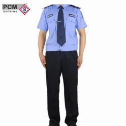 Blue Cotton Security Guard Uniform