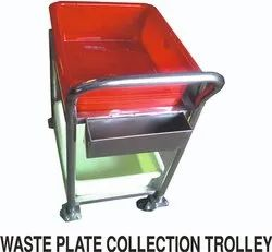 Waste Plate Collection Trolley