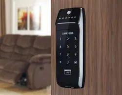 Samsung Rim Without Handle Digital Door Lock Black (SHS-2320), Nickel
