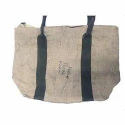 Brown Plain Loop Handle Jute Bags