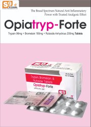 Trypsin 96mg   Bromelain 180mg   Rutoside 200mg