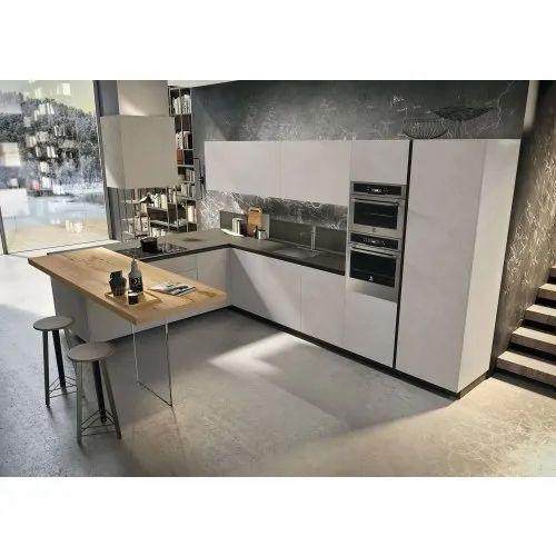 T Shape Stainless Steel Modular Kitchen