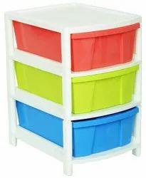 Multicolor Plastic Aristo Multipurpose 3 Drawer, For Mutipurpose