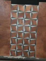 Stone Brown Printed Mosaic Tiles, For Wall, Thickness: 8 mm