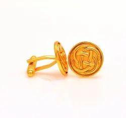 Golden Infinity 92.5 Sterling Silver Cufflinks
