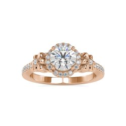 Top Quality DEF Round Cut Full White Moissanite White,Yellow,Rose Gold For Engagement