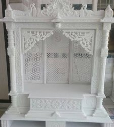 White marble temple, For Home, Size: 3x3x18inc