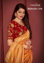 Manjubaa Mahahri Silk Saree Catalog Collection
