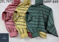 ZFL 7972 Men Striped Shirts