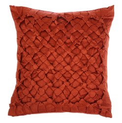 Handcrafted Bright orange square cushion cover