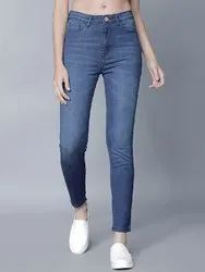 Curvature Skinny Women Knitted Denim Stretchable Jeans, Waist Size: 28 - 36
