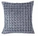 Designer Grey Satin Handcrafted Cushion Cover
