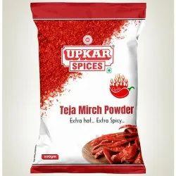 Teja Mirch Powder(Upkar Spices), Packaging Type: Packet
